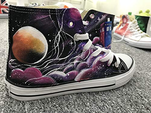 0a67be93f0 Doctor Who Hand Painted Shoes For Women Men Custom Sneakers Painted  Sneakers Hand Painted Shoes DW. Loading Images... Back. Double-tap to zoom