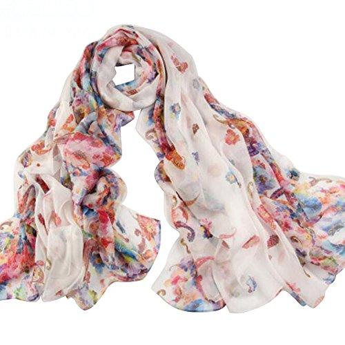 Bufanda de verano bufanda de colores de playa chal de protección solar bufanda delgada mujeres [K]