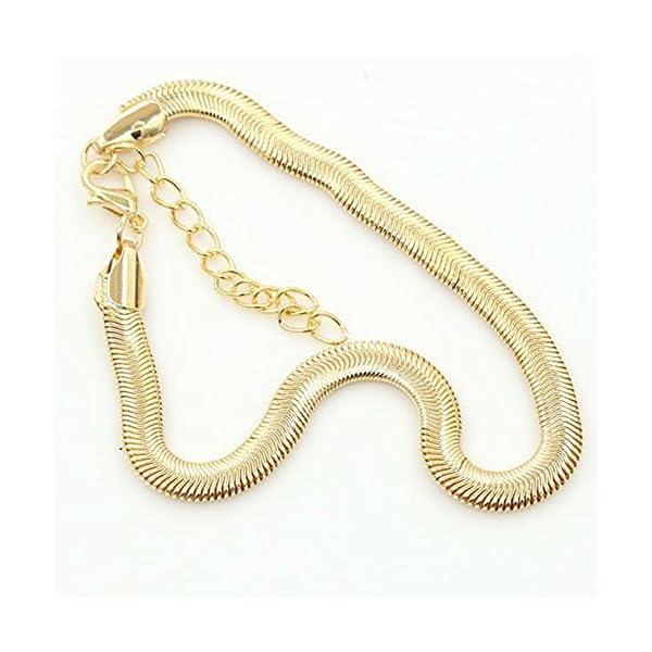 qinlee spiaggia cavigliera semplice stile piede gioielli bracciali spiaggia gioielli da donna ragazza Lässig gioielli… 2 spesavip
