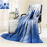 Decorative Throw Blanket Ultra-Plush Comfort Room with Rows of Server Hardware in The Data Center Soft, Colorful, Oversized | Home, Couch, Outdoor, Travel Use(90''x 70'')