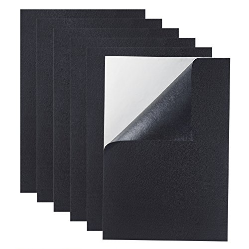 (Caydo 6 Pieces Black Adhesive Back Felt Sheets Fabric Sticky Back Sheets, 8.3 by 11.8