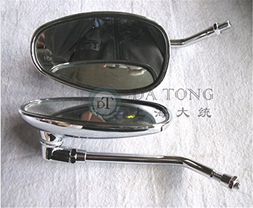 (1pair/lot) Mirror set 10mm Lh Thread For Chinese Scooter Honda Yamaha Kawasaki Vespa Suzuki ATV Moped Spare Part