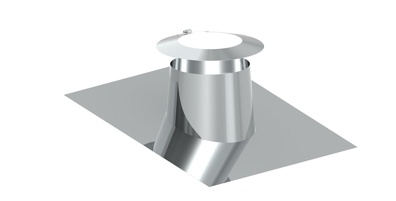 Dachdurchf/ührung 16/° 25/° mit Wetterkragen f/ür doppelwandige Schornsteine DW; passend f/ür Rohre mit /Ø 300mm Au/ßendurchmesser
