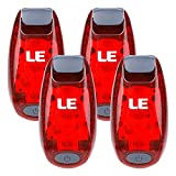 LE LED Bike Light, Bicycle Rear Light, 3 Lighting Modes, Clip On Cycling Taillight, Batteries Included, Pack of 4