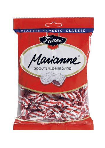 Fazer Marianne Red Finnish Milk Chocolate Filled Mint Candies Chocolates Candy Sweets Bag