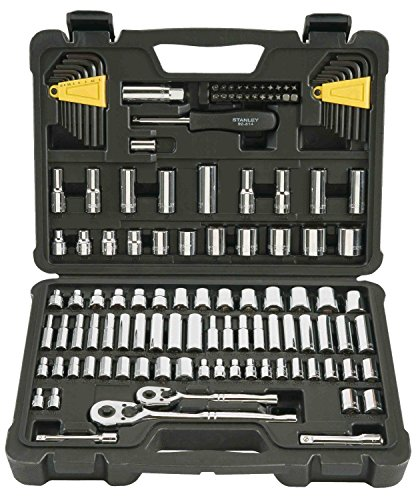 Stanley 123-Piece Socket Ratchet Tools Set Metric 1/4