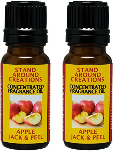 Set of 2 - Concentrated Fragrance Oil - Apple Jack & Peel - Apples and oranges blended w/ cinnamon, clove, nutmeg. Infused w/essential oils. (.33 fl.oz.) by Stand Around Creations