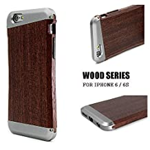 Wooden iPhone 6/6s Case Cover- LEAPCOVER Unique Design Made by Wood & Aluminum, Premium Natural Handmade Wood Phone cover Perfect Fit for Apple iPhone 6,iPhone 6s (4.7 in-ch, 1 package)