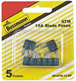 Bussman BP/ATM-15 RP 15 Amp Mini Fuses 5 Count