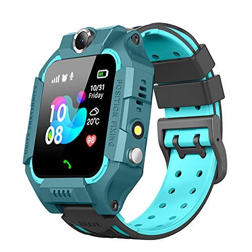 LIGE Kids Smart Watch Phone, IP67 Waterproof GPS Watch with SOS 2 Way Call SIM Card Built-in Camera Alarm Clock for Children 3-12 Years Old Children, Green