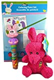 Easter Basket Stuffer Bundle: 3 Items, 1 Unicorn Paint by Number, 1 Soft Terry Bunny Plush, 1 Bobble Head Bunny Candy Tube