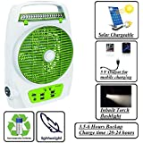 "Gadget-Wagon Sonashi 8"" Solar / Ac Rechargeable Mini High Speed Table Fan With Usb Charger 5 V,4-6 Hours Backup,32 Led."