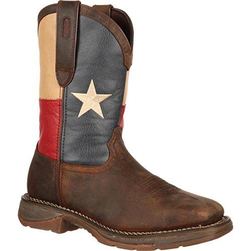 Durango Men's DB021 Western Boot, Dark Brown/Texas Flag, 9.5 M US