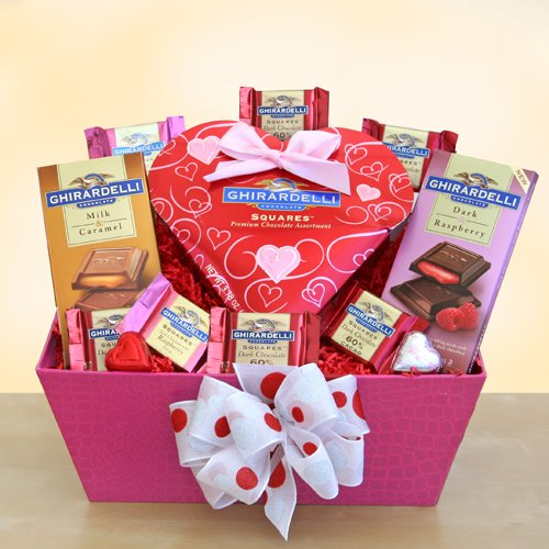 Sweet Inspirations Valentines Chocolate Gift Basket for Her