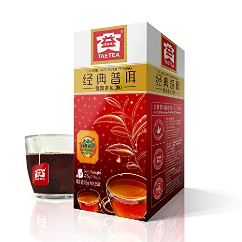 (TAE TEA Pu'er Tea Bag - Pu erh Fermented Tea - Chinese Black Tea - Pu er Tea Bag - 25 Count Individually Wrapped for Weight Loss)
