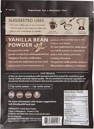 Kiva Vanilla Bean Powder, Gourmet Madagascar Bourbon (Pesticide-Free, RAW and Vegan), 3 Ounce by Kiva (Image #1)