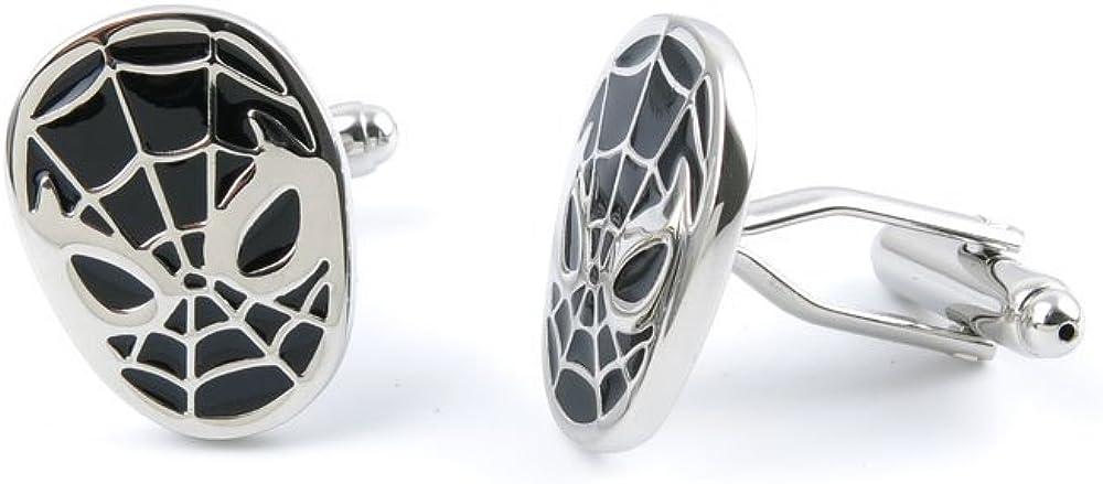 Cufflinks Cuff Links NLSH0 Black Spider Man Mask Fashion Jewelry Gift Wedding Party Shirt Mens Button Classic