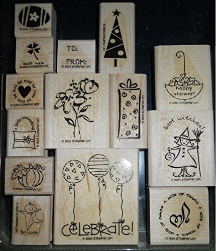 Stampin' Up! Wood Mounted Stamp - Tag Time - Set of 14 from Stampin' Up