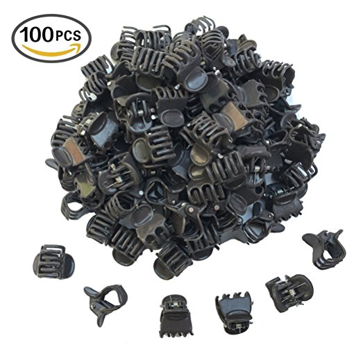 Huouo 100 Pcs Orchid Clips Garden Flower Cymbidium Plant Support Clips for Supporting Stems, Vines, Stalks to Grow Upright Brown