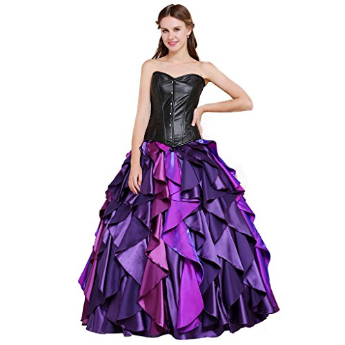 CosplayDiy Women's Dress for The little mermaid Sea Witch Ursula Cosplay L -