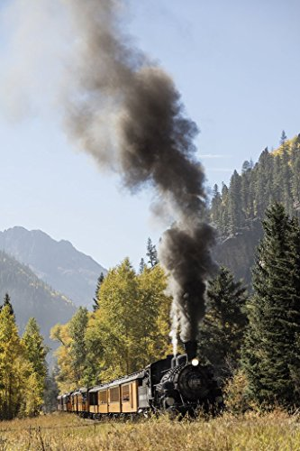 San Juan County, CO Photo - A Durango & Silverton Narrow-Guage Scenic Railroad train chugs through the San Juan Mountains in the CO county of the same name. - Highsmith
