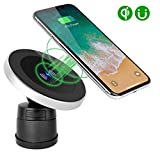 XINLON Magnetic Wireless Car Charger,Wireless Charging for Samsung S9 S9+ S8 S8+ S8 Plus S7 S7 Edge S6 Edge Plus Note 5 Note 7 Note 8、Apple iPhone X/8/8 Plus and All QI-Enabled Devices(No Car Charger)