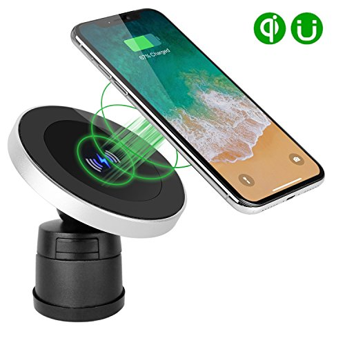 XINLON Magnetic Wireless Car Charger,Wireless Charging for Samsung S9 S9+ S8 S8+ S8 Plus S7 S7 Edge S6 Edge Plus Note 5 Note 7 Note 8、Apple iPhone X/8/8 Plus and All QI-Enabled Devices(No Car Charger) by XINLON