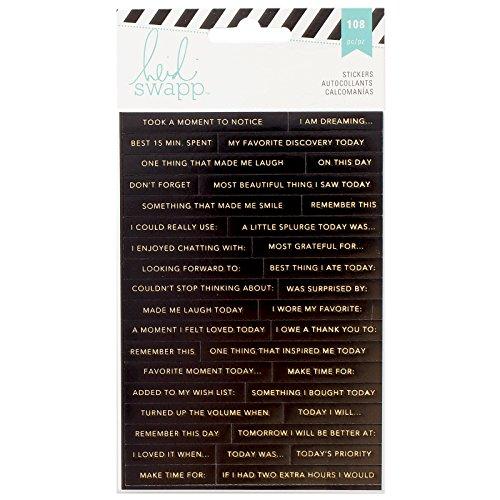 - Heidi Swapp 312580 3 Sheets Memory Planner Word Jumble Stickers