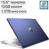 HP Pavilion 15.6 Touchscreen Laptop WLED-backlit HD - intel Core i5-8250U Processor at 1.6GHz - 12GB DDR4 RAM - 1TB SATA Hard Drive - Integrated Intel 620 Graphics - Windows 10 Home (64 bit) - BLUE