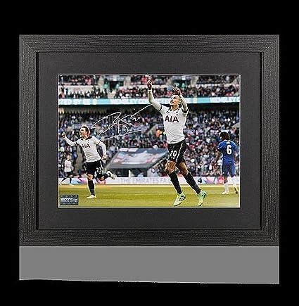 Glenn Hoddle Signed Tottenham Hotspur Photo Road To Wembley In Gift Box