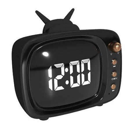 Reloj Digital con Alarma, Cubo de Madera LED, Tres Juegos de ...