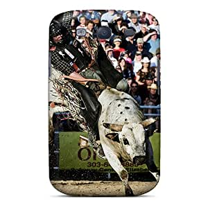 JamieBratt Samsung Galaxy S3 Excellent Hard Cell-phone Case Support Personal Customs Stylish Bull Riding Image [TxP4155yyek]