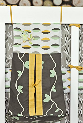 Diaper Stacker/Organizer, DK Leigh, Owl Grey, Yellow & Sage Green Girl/Boy NEW