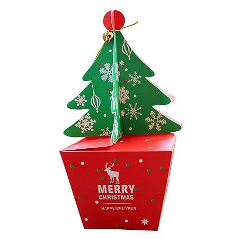 Toyvian 10 unids Cajas Forma de árbol de Navidad Decoración de Bell Cajas de Dulces Favor