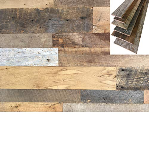 Barnwood Foot - Vintage Harvest Reclaimed Barn Wood (Barnwood) Wall Planks - 10 Square Feet