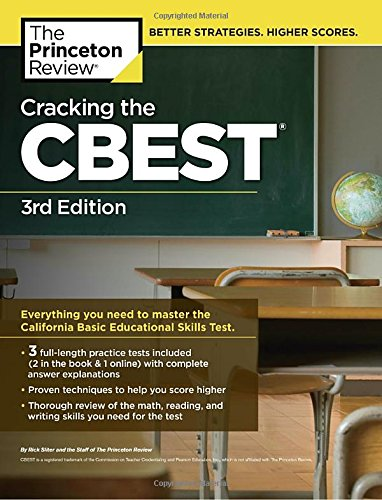 Cracking the CBEST, 3rd Edition (Professional Test Preparation) cover