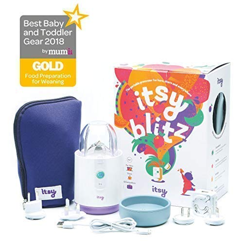 Itsy Blitz Mini Baby Food Portable Processor Weaning Blender Mixer With Bowl Spoon By Itsy