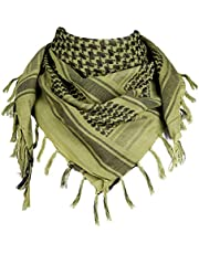 FREE SOLDIER Scarf Military Shemagh Tactical Desert Keffiyeh Head Neck Scarf Arab Wrap with Tassel 43x43 inches