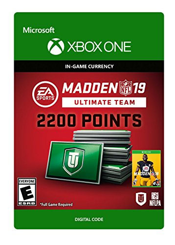 Madden NFL 19: MUT 2200 Madden Points Pack - Xbox One [Digital Code] by Electronic Arts