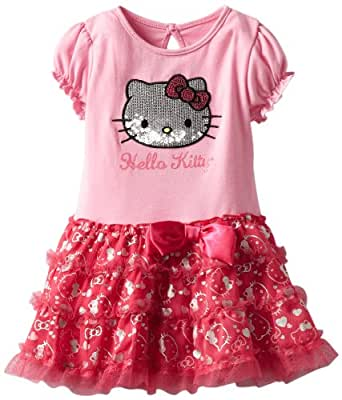 Hello Kitty Baby Girls' Short Sleeve Top With Print Tutu, Begonia Pink, 12 Months