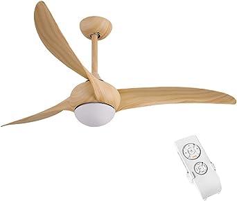 XMYX Ventilador de Techo Silencioso con Luz LED Regulable y Mando ...