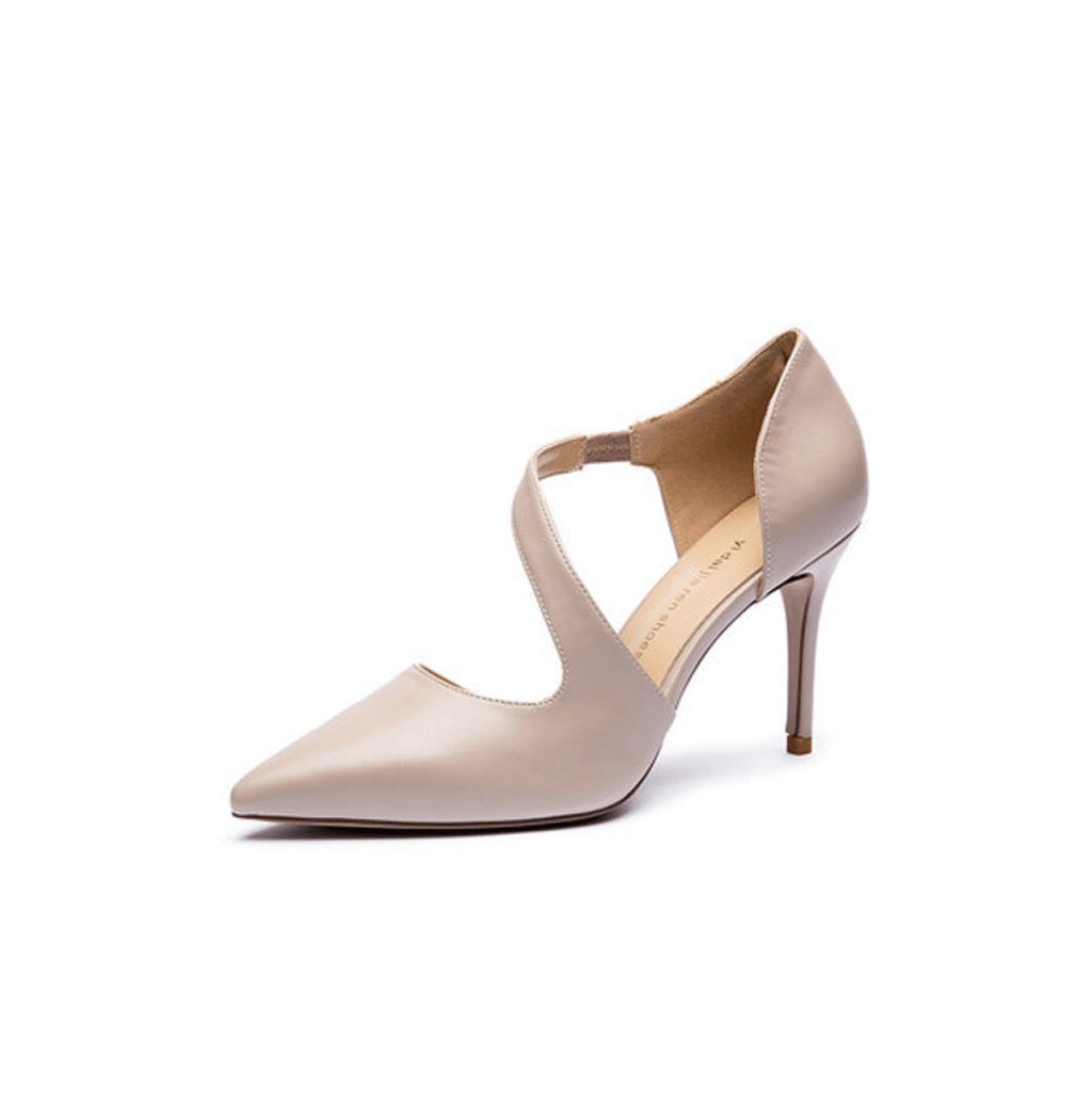 Dream Chaser Spring New Elegant High Heels Female Summer Pointed High Heels Wedding Shoes (Color : Beige, Size : 36)