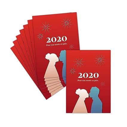 Tarjeta saludo 2019 amor y Paz - 8 tarjetas - Tarjeta pareja ...