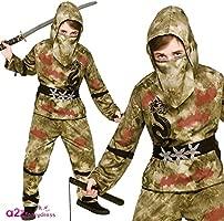 Zombie Ninja - Kids Costume 5 - 7 years
