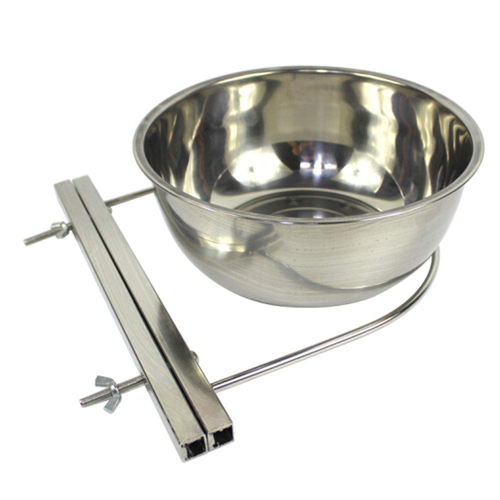 Dog Bowl,Stainless Steel Dog Cage Fixed Food Bowl, Suitable for golden Retriever Alaska Medium and Large Dogs, Water Bowl, Dog Supplies Large Size