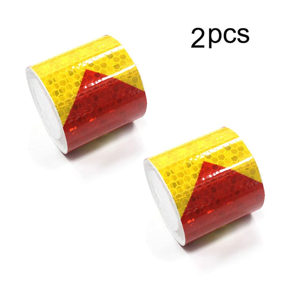 Reflective Hazard Tape Conspicuity Safety Marking Red White Arrow Types 2/″/×9.8/′3 PCS