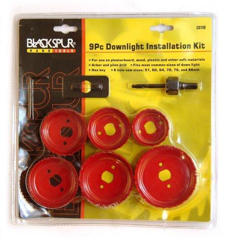 Blackspur Downlighter Instalation Holesaw Kit - 9 Pieces BB-LS110 Hamble Distribution ltd
