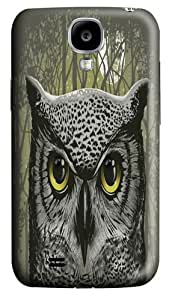 Moon Owl Custom Samsung Galaxy I9500/Samsung Galaxy S4 Case Cover Polycarbonate 3D