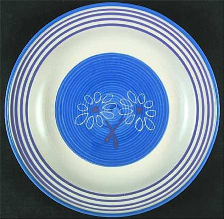 12 Chop Plate Round Platter - Pfaltzgraff Baja Daisy Chop Plate / Round Platter 12