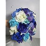 Royal-Blue-Purple-Ivory-Rose-Orchid-Bridal-Wedding-Bouquet-Boutonniere